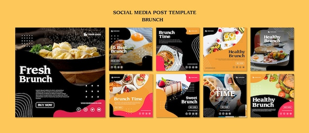 Brunch social media post template