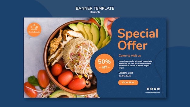 Brunch theme for banner template