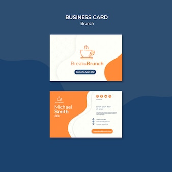 Brunch theme for business card template