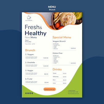 Brunch theme for menu template
