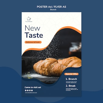 Brunch theme for poster template