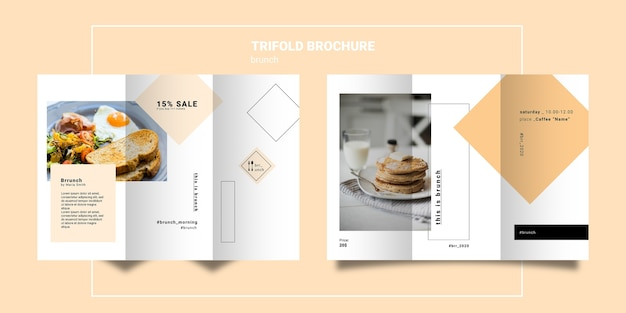 Brunch trifold brochure template