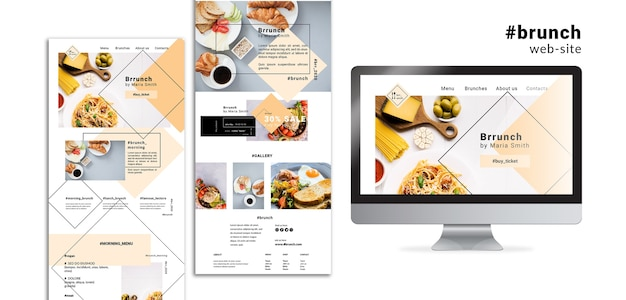 Brunch web site landing pages