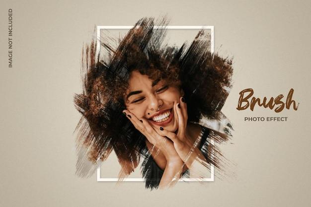 Brush frame photo effect