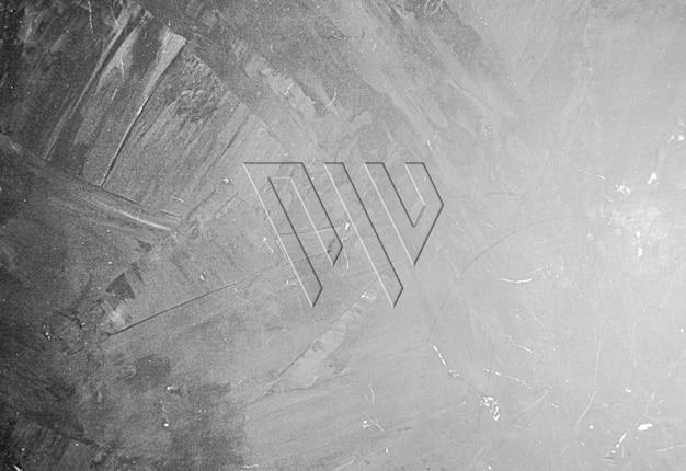 Brushed concrete wall logo mockup