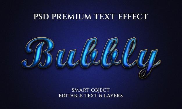 Дизайн с эффектом пузырькового текста