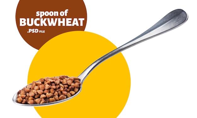 Buckwheat in spoon banner