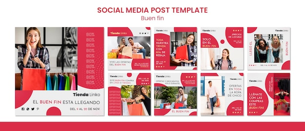 Buen fin social media post template