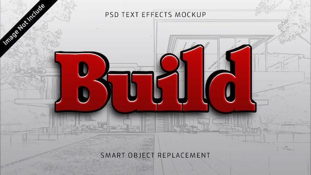 Build 3d text effect mockup