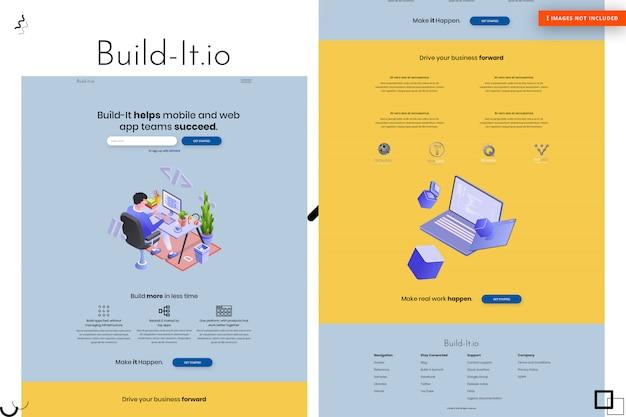 Build website page design