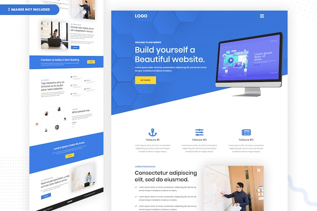 Build yourself a beautiful website page template