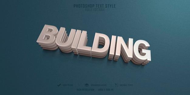 Создание дизайна шаблона с эффектом стиля 3d-текста