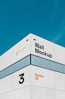Мокап стены здания