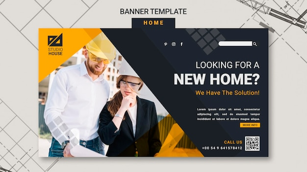 Building your own home banner template