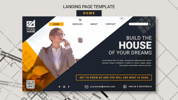 Building your own home landing page