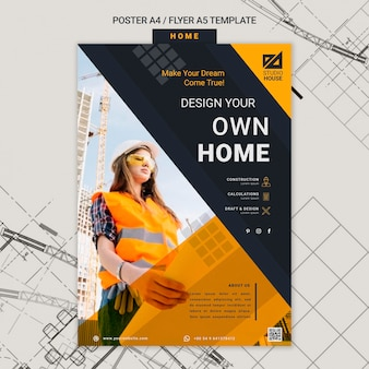 Building your own home print template