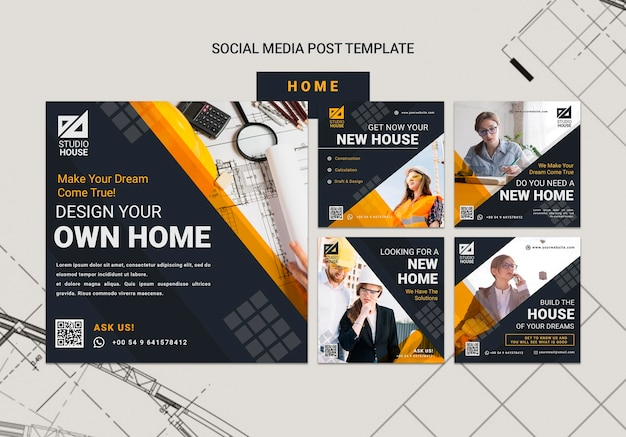 Building your own home social media posts
