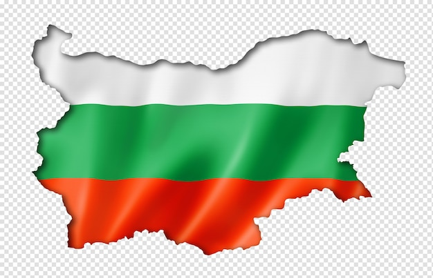 Bulgarian flag map