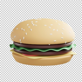 Бургер 3d иллюстрации