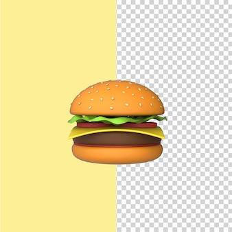 버거 3d 렌더링 모델