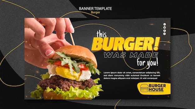 Burger banner template style