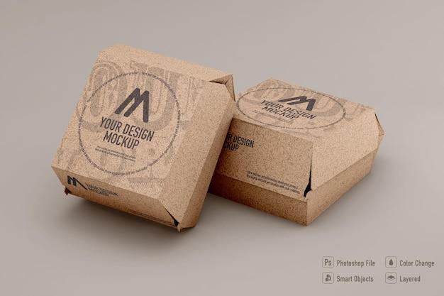 Burger box mockup isolated design