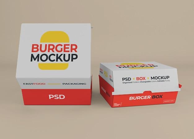 Изолированный дизайн макета упаковки гамбургера