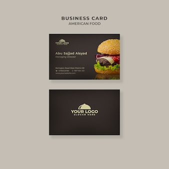Burger business card template