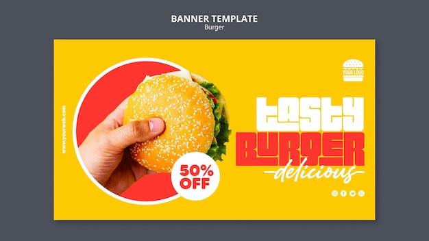 Burger concept banner template