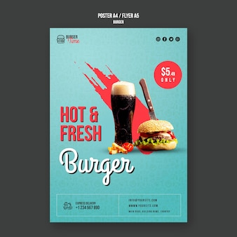 Burger concept flyer template