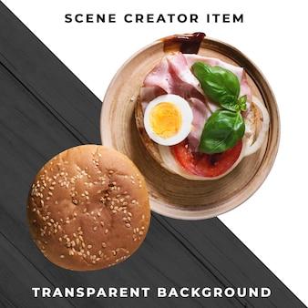 Бургер ингредиент прозрачный psd