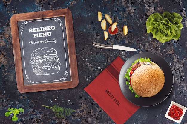 Burger menu mockup