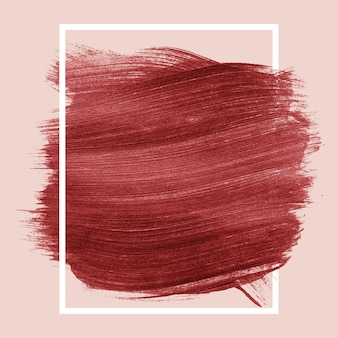 Burgundy brush stroke background