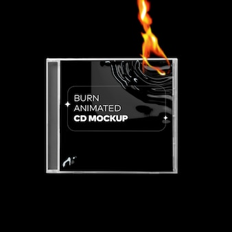 Burn cd cover mockup