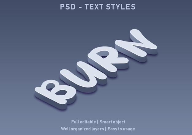 Записать текстовые эффекты в стиле редактируемые psd