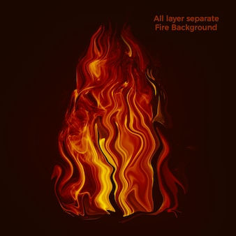 Burning fire background