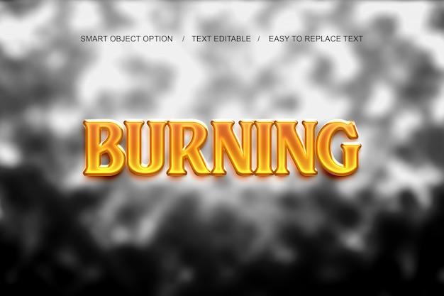 Burning layer style
