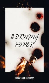 Burning paper mockup