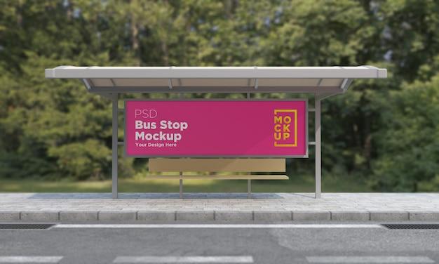 버스 정류장 버스 정류소 기호 모형 3d 렌더링