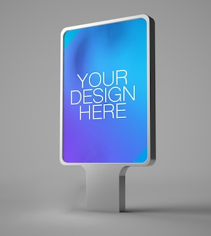 Bus stop poster advertising isolated mockup