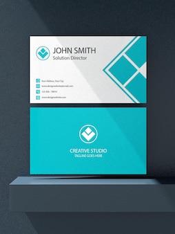 비즈니스 카드 모형 디자인 렌더링