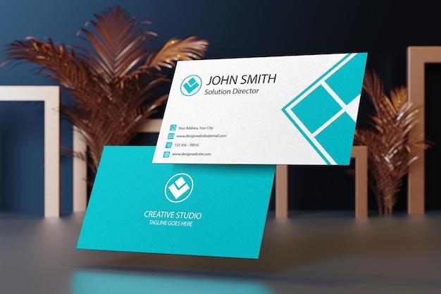 비즈니스 카드 모형 디자인