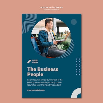 Business ad flyer template