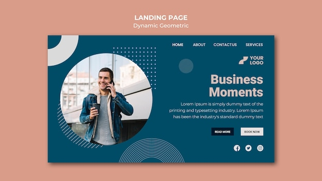 Business ad landing page template