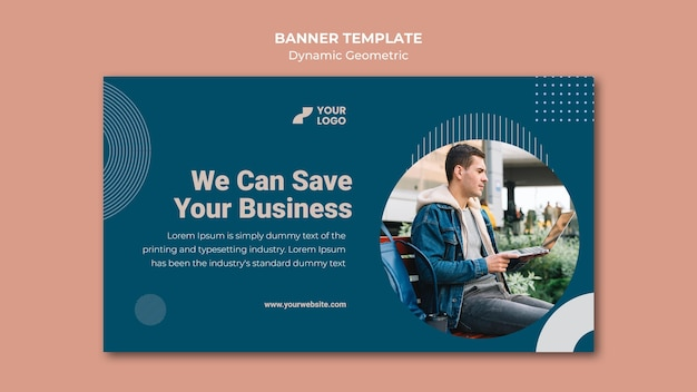 Business ad template banner
