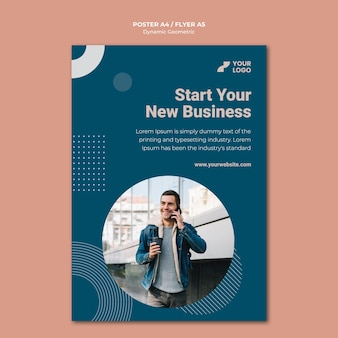 Business ad template flyer