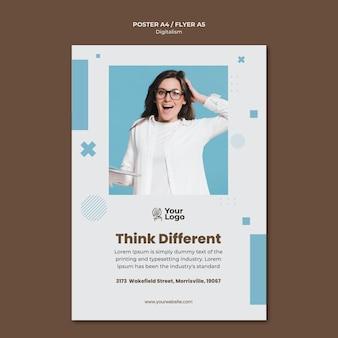 Флаер с шаблоном бизнес-рекламы