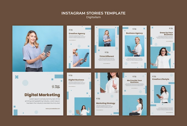 Business ad template instagram stories