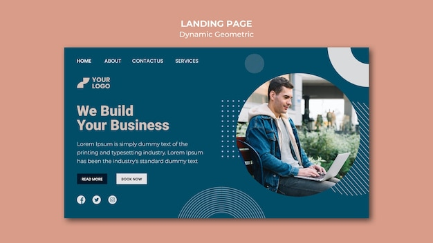 Business ad template landing page
