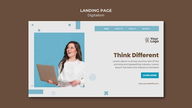 ビジネス広告テンプレートのランディングページ